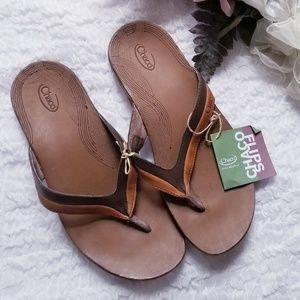 NWT Chaco Abril Cymbal Leather Thong Flip Flop 7